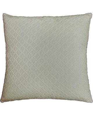 Rosecliff Heights Whitakers Crochet 100% Cotton Throw Pillow ROHE2222 Color: Natural