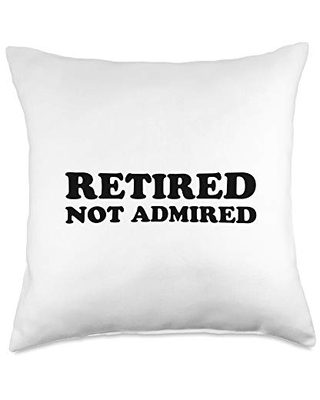 Statement Blend Retired not admired Throw Pillow, 18x18, Multicolor