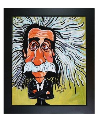 Huge Deal On Vault W Artwork Albert Einstein By Nora Shepley Picture Frame Painting Print On Canvas Format New Age Wood Framed Canvas Fabric Wayfair