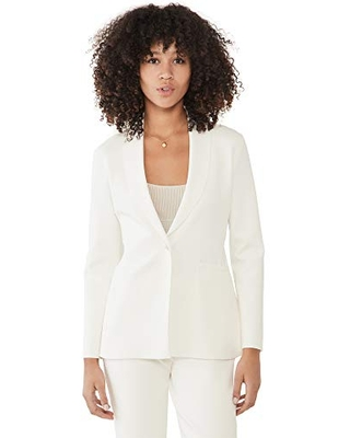 Theory Women's Etiennette Knit Blazer, Ivory, White, Small