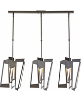 "Hubbardton Forge Triptic 45""W Dark Smoke Multi Light Pendant"
