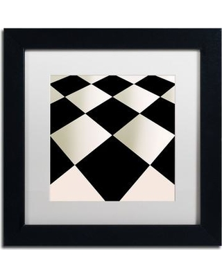 """Trademark Art 'Fifties Patterns V' by Color Bakery Framed Graphic Art ALI4339-B1 Size: 11"""" H x 11"""" W x 0.5"""" D Mat Color: White"""