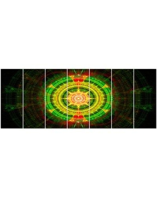 Design Art 'Bright Green Fractal Sphere' Graphic Art Print Multi-Piece Image on Canvas, Canvas & Fabric in Brown/Green | Wayfair PT16099-732