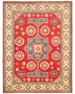 Hand-knotted Finest Gazni Red Rug - ECARPETGALLERY - 8'5 x 11'1