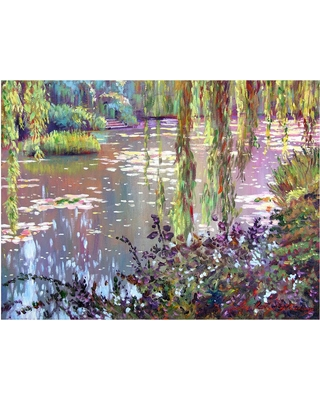 'Homage to Monet' by David Lloyd Glover Ready to Hang Canvas Wall Art, Multi-Colored