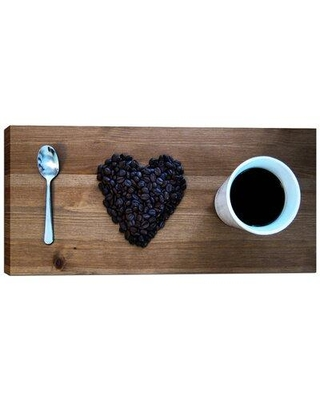 "Cortesi Home ""I Love Coffee"" by Nicklas Gustafsson Photographic Print on Wrapped Canvas CH-CA91 Size: 12"" H x 24"" W"