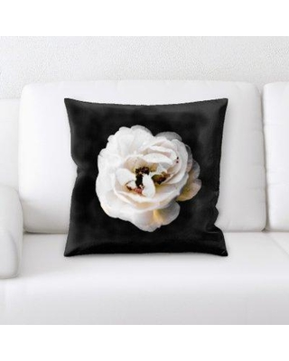 East Urban Home Flowers with Background Throw Pillow BF083809