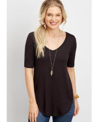 Maurices Womens 24/7 Flawless Solid Tee - Size Small