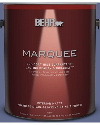 BEHR MARQUEE 1 gal. #S540-6 Dangerously Elegant One-Coat Hide Matte Interior Paint and Primer in One