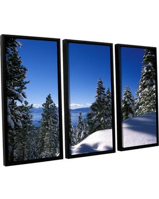 ArtWall Lake Tahoe in Winter by Kathy Yates 3 Piece Framed Photographic Print Set 0yat011c3654f