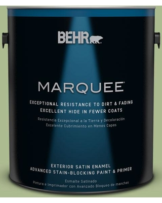 BEHR MARQUEE 1 gal. #M370-4 Chervil Leaves Satin Enamel Exterior Paint and Primer in One