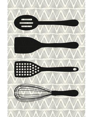 """Marmont Hill 'Utensils' by Diana Alcala Painting Print on Wrapped Canvas MH-DIAALC-27-C- Size: 30"""" H x 20"""" W x 1.5"""" D"""