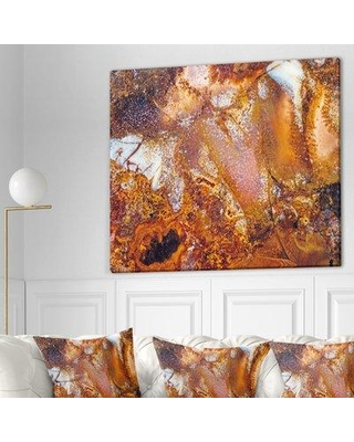 """East Urban Home Stone 'Moss Agate Abstract Macro' Graphic Art Print on Wrapped Canvas ETUC0072 Size: 30"""" H x 40"""" W x 1.5"""" D"""