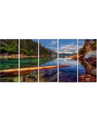 Design Art 'Floating Lake in Mountain Lake' 5 Piece Photographic Print on Wrapped Canvas Set PT14618-401