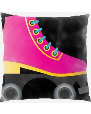 The Holiday Aisle Rosenow Roller Skate Indoor/Outdoor Canvas Throw Pillow W000996321