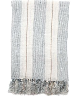 Pom Pom At Home Laguna Throw Blanket, Size Large - Blue