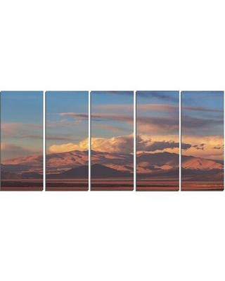 Design Art 'Argentina Mountains with Clouds' 5 Piece Photographic Print on Wrapped Canvas Set PT12514-401