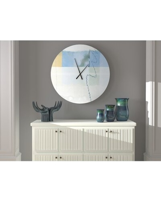 Check Out Deals On Reachable Nimble Witted Abstract Metal Wall Clock Ebern Designs Size Large