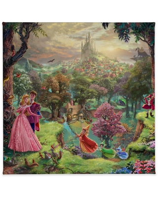 ''Sleeping Beauty'' Gallery Wrapped Canvas by Thomas Kinkade Studios Official shopDisney