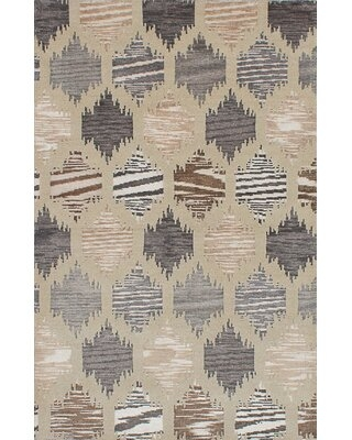 """One-of-a-Kind Fjoralba Hand-Knotted 2010s Light Khaki 5'1"""" x 7'11"""" Area Rug"""