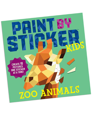 Paint By Sticker Kids - Zoo Animals - Arts & Crafts for Ages 5 to 7 - Fat Brain Toys