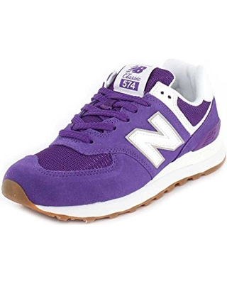 New Balance Women's 574v2 Sneaker, Purple Mountain/Overcast, 5.5 B US
