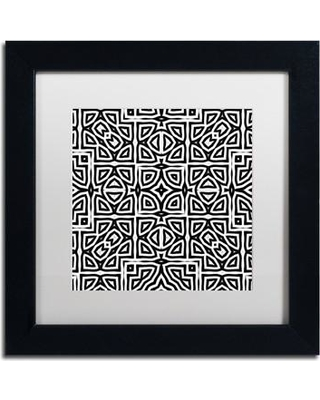 """Trademark Art 'Alhambra' by Color Bakery Framed Graphic Art ALI4347-B1 Size: 11"""" H x 11"""" W x 0.5"""" D Mat Color: White"""