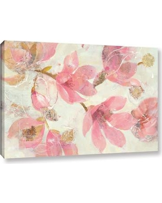 """Ophelia & Co. 'Magnolias in Bloom' on White Painting Print on Gallery Wrapped Canvas OPCO3115 Size: 12"""" H x 18"""" W x 2"""" D"""