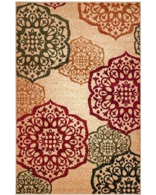"""Winston Porter Albee Red/Green Area Rug W000795769 Rug Size: 7'4"""" x 10'6"""""""