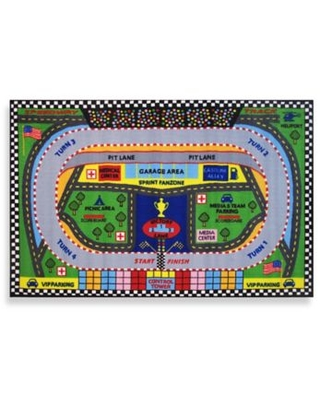 Fun Rugs™ Speedway 3-Foot 3-Inch x 4-Foot 10-Inch Accent Rug
