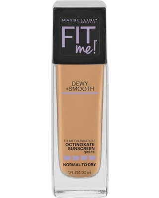 Maybelline Fit Me Dewy + Smooth Liquid Foundation Makeup with SPF 18, Classic Beige, 1 fl oz