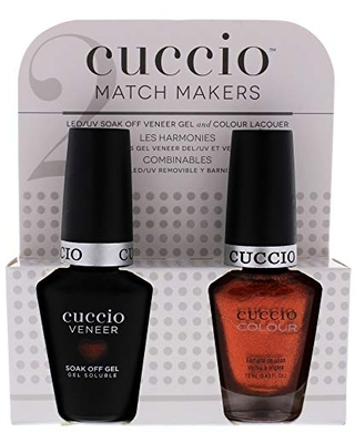 Cuccio Matchmaker - Colour Nail Lacquer & Veneer Gel Polish - Call In The Calgary - For Manicures & Pedicures, Full Coverage - Long Lasting, High Shine - Cruelty, Formaldehyde & Toluene Free - 2 pc