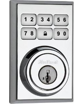 Kwikset Smartcode Touchpad Electronic Deadbolt with Smartkey 909CNT Finish: Bright Chrome