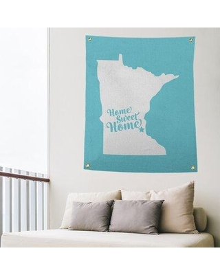 "East Urban Home Home Sweet Saint Paul Indoor/Outdoor Wall Tapestry EBIU5491 Size: 80"" H x 59"" W Color: Teal"