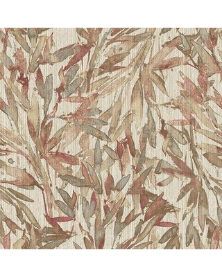 """Accentuations by Manhattan Comfort Rainforest 33' L x 21"""" W Wallpaper Roll YWY623070 Color: Red/Warm Gray"""