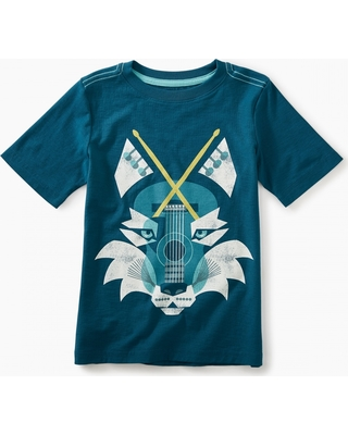 Tea Collection Music Wolf Graphic Tee