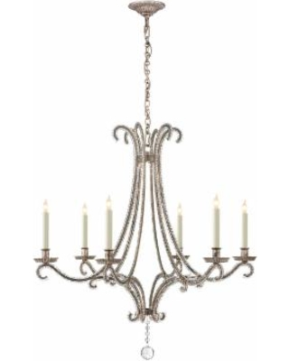 Visual Comfort and Co. E. F. Chapman Oslo 32 Inch 6 Light Chandelier - CHC 1550BSL-CG