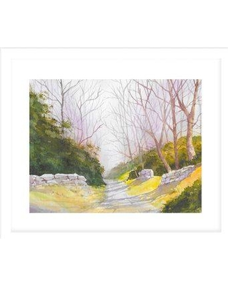 Huge Deal On Charlton Home Road With Stone Walls Color Painting Print Cg210522 Size 20 H X 30 W X 0 75 D Format Framed