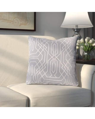 Meader Throw Pillow Alcott Hill Color: Purple