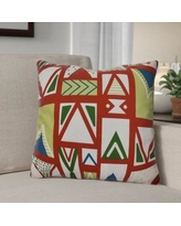 """The Holiday Aisle Decorative Geometric Throw Pillow HLDY1533 Size: 26"""" H x 26"""" W, Color: Red"""