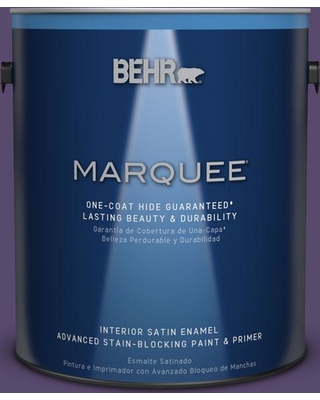 BEHR MARQUEE 1 gal. #P570-7 Proper Purple One-Coat Hide Satin Enamel Interior Paint and Primer in One