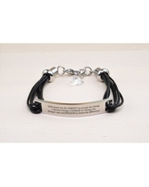 Genuine Leather ID Bracelet with Crystals from Swarovski - SERENITY PRAYER