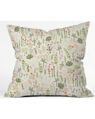 """East Urban Home Iveta Abolina Floral Goodness Indoor/Outdoor Throw Pillow ESHE1637 Size: 16"""" x 16"""""""
