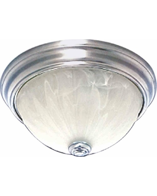 Volume Lighting Marti 1-Light Brushed Nickel Flush Mount