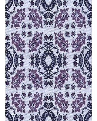 East Urban Home Floral Wool Purple Area Rug W002190092 Rug Size: Rectangle 5' x 7'