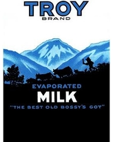 "Buyenlarge 'Troy Brand Evaporated Milk' Vintage Advertisement 0-587-33623-4 Size: 36"" H x 24"" W x 1.5'' D"