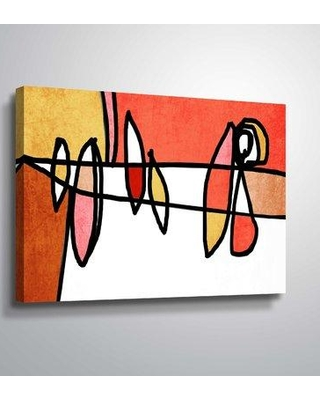 "Latitude Run 'Vibrant Colorful Abstract V' Graphic Art Print LDER6735 Format: Wrapped Canvas Size: 24"" H x 36"" W x 2"" D"