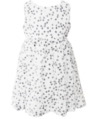 Popatu Floral Tulle Dress, Size 2T in White at Nordstrom
