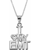 "Insignia Collection Sterling Silver ""I Love My Emt"" Pendant Necklace, Women's, Size: 18"", multicolor"
