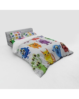 Funny Duvet Cover Set East Urban Home Size: Queen Duvet Cover + 3 Additional Pieces